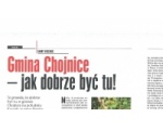 """Gmina Chojnice liderem rankingu pisma """"Wspólnota"""" w kategorii """"Przyrost dochodów rok do roku"""""""