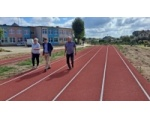 Wizyta na budowie kompleksu sportowego przy Szkole Podstawowej w Nowej Cerkwi.