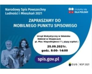Zapraszamy do Punktu Spisowego Urzędu Statystycznego Oddział w Chojnicach pl. Niepodległości 7 (stary szpital)